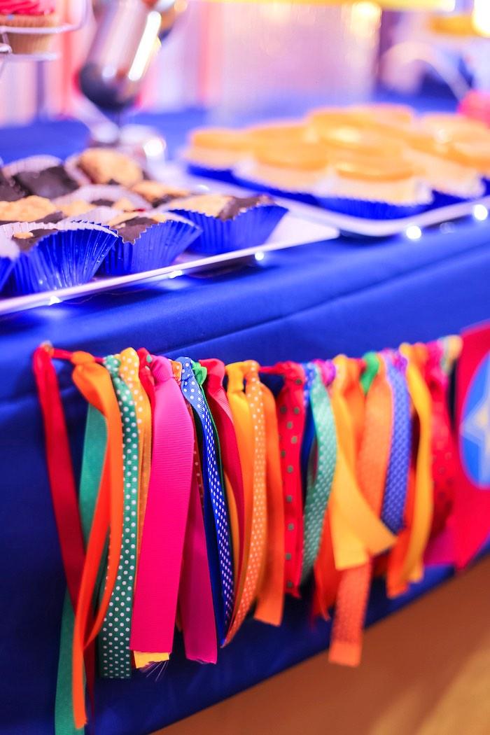 Fabric Tassel Garland from a Circus + Carnival Birthday Party on Kara's Party Ideas | KarasPartyIdeas.com (8)