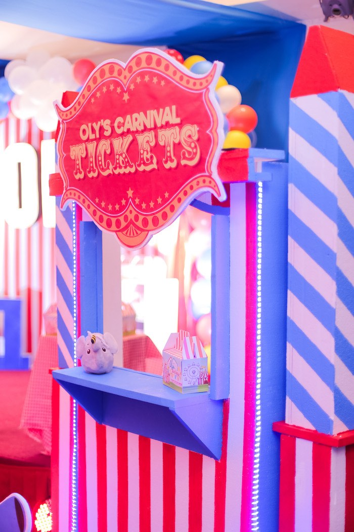 Ticket Booth from a Circus + Carnival Birthday Party on Kara's Party Ideas | KarasPartyIdeas.com (7)