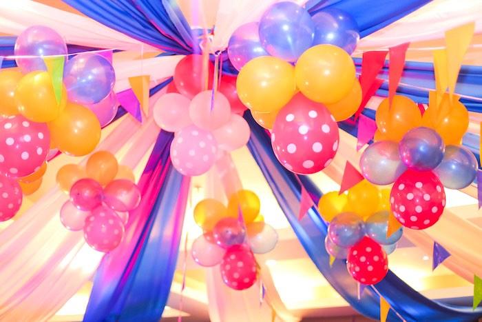 Balloon Ceiling from a Circus + Carnival Birthday Party on Kara's Party Ideas | KarasPartyIdeas.com (6)