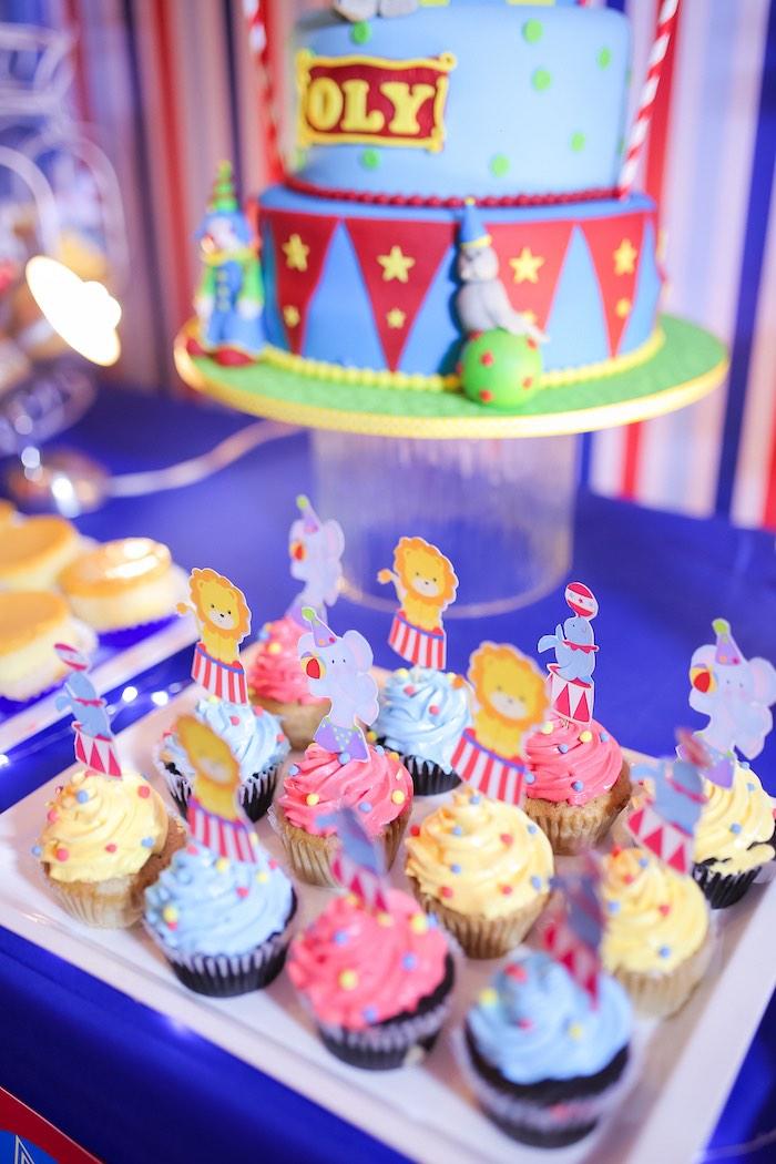 Circus Animal Cupcakes from a Circus + Carnival Birthday Party on Kara's Party Ideas | KarasPartyIdeas.com (22)