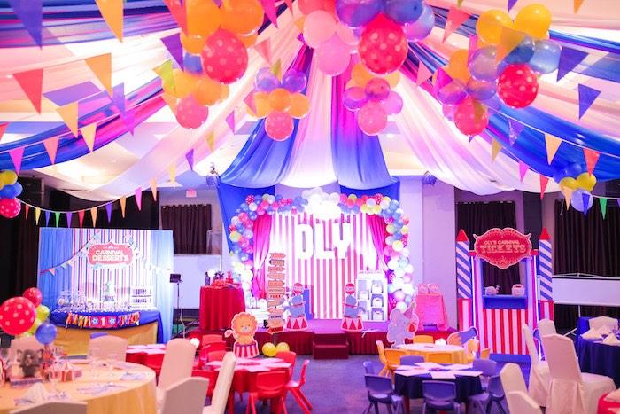 Circus + Carnival Birthday Party on Kara's Party Ideas | KarasPartyIdeas.com (21)