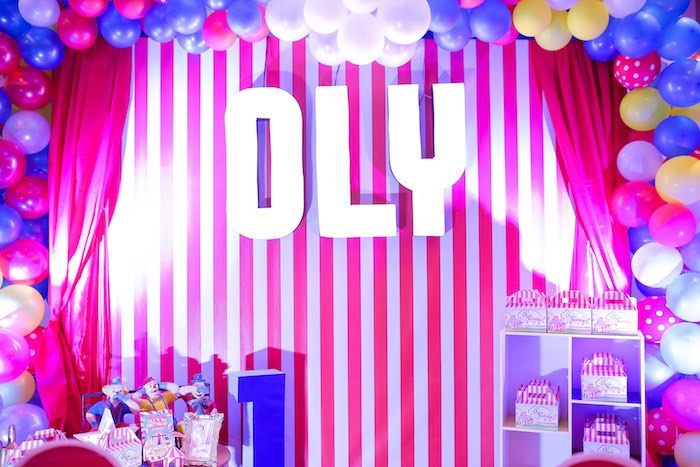Red Striped Marquee Backdrop from a Circus + Carnival Birthday Party on Kara's Party Ideas | KarasPartyIdeas.com (19)