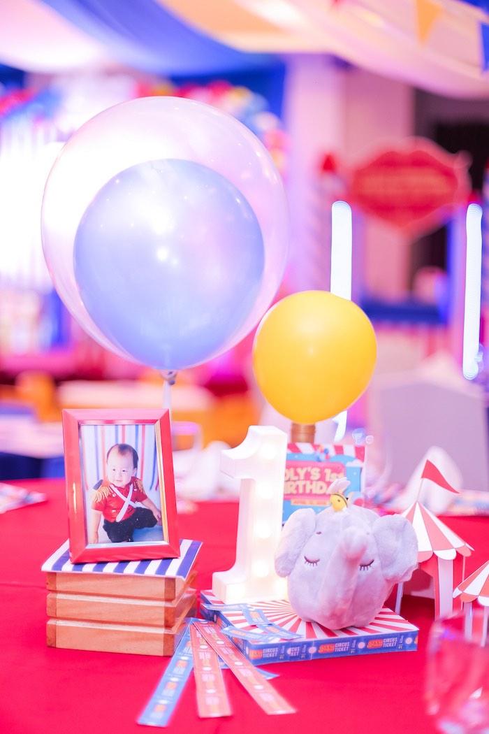 Table Centerpiece from a Circus + Carnival Birthday Party on Kara's Party Ideas | KarasPartyIdeas.com (16)