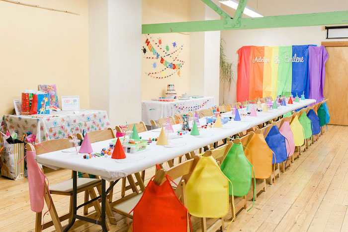 Colorful Art Party on Kara's Party Ideas | KarasPartyIdeas.com