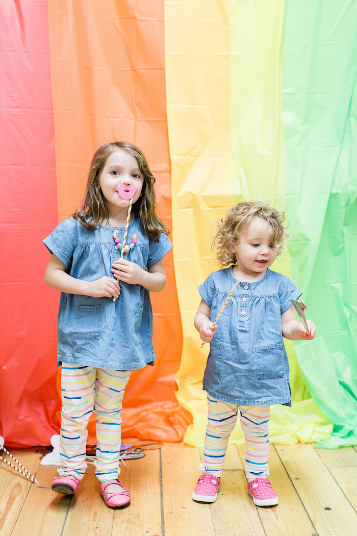 Rainbow Photobooth from a Colorful Art Party on Kara's Party Ideas | KarasPartyIdeas.com (6)