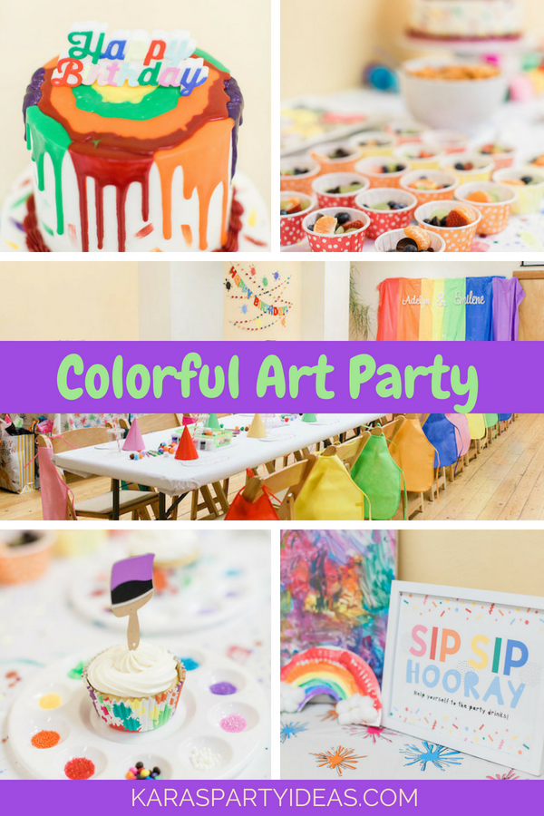 Colorful Art Party via KarasPartyIdeas - KarasPartyIdeas.com