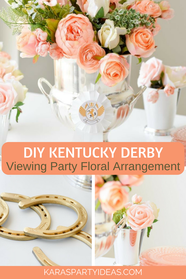 Kara S Party Ideas Diy Kentucky Derby Viewing Party Floral