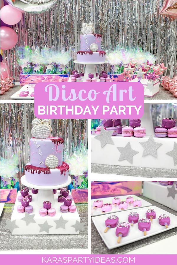 Disco Art Birthday Party via Kara_s Party Ideas - KarasPartyIdeas.com