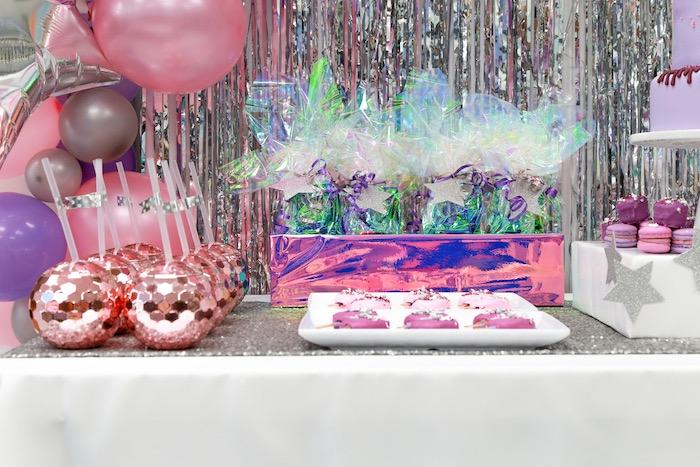 Disco Dessert Table from a Disco Art Birthday Party on Kara's Party Ideas | KarasPartyIdeas.com (8)