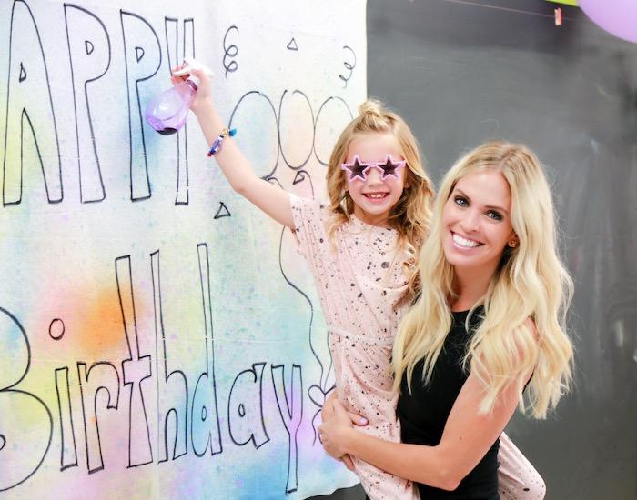 Disco Art Birthday Party on Kara's Party Ideas | KarasPartyIdeas.com (4)