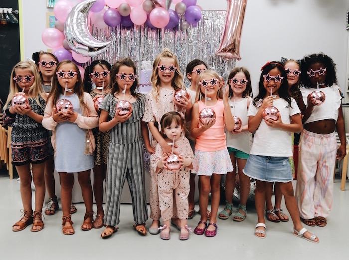 Disco Girls in Star Sunnies from a Disco Art Birthday Party on Kara's Party Ideas | KarasPartyIdeas.com (17)