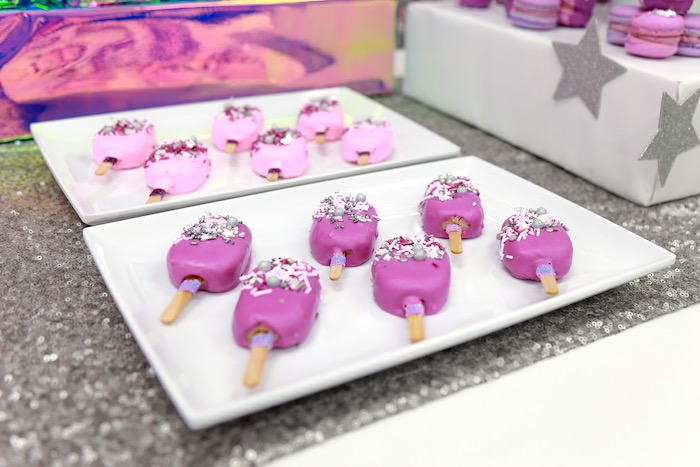 Disco Cake Popsicles from a Disco Art Birthday Party on Kara's Party Ideas | KarasPartyIdeas.com (16)