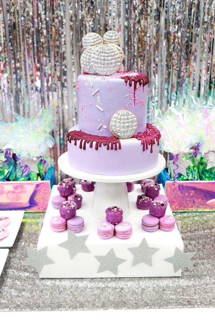 Disco Cake from a Disco Art Birthday Party on Kara's Party Ideas | KarasPartyIdeas.com (15)