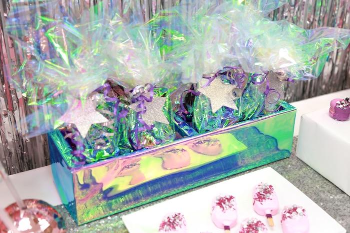 Glitter Star Favor Sacks from a Disco Art Birthday Party on Kara's Party Ideas | KarasPartyIdeas.com (11)