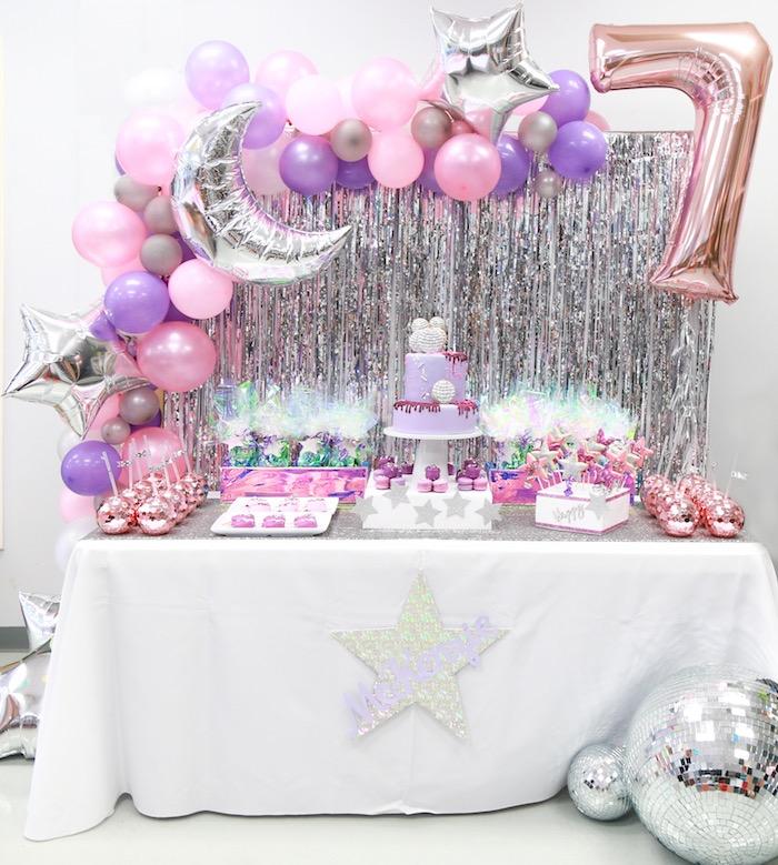 Disco Dessert Table from a Disco Art Birthday Party on Kara's Party Ideas | KarasPartyIdeas.com (10)
