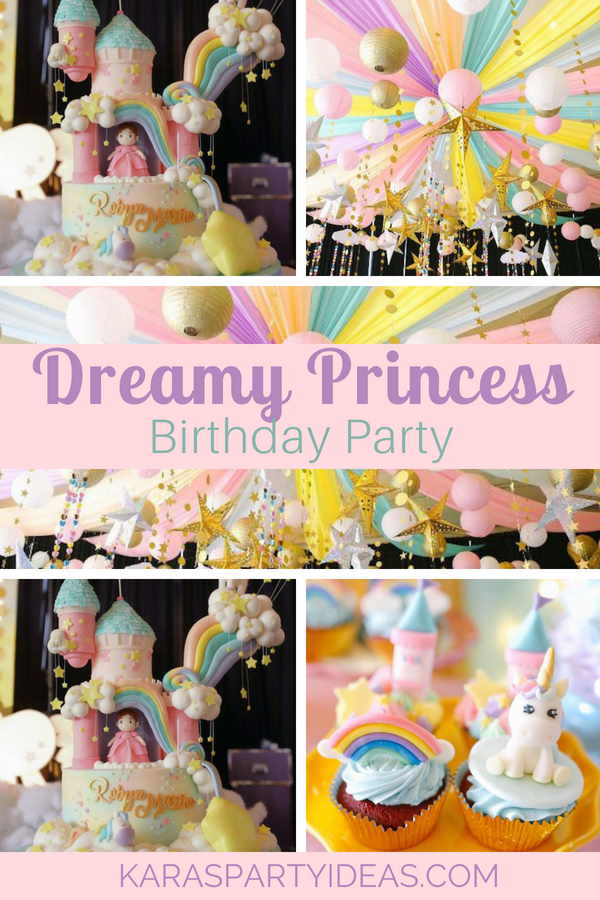 Dreamy Princess Birthday Party via KarasPartyIdeas - KarasPartyIdeas.com
