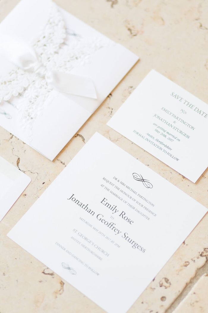 Invites from a Romantic Garden Wedding on Kara's Party Ideas | KarasPartyIdeas.com