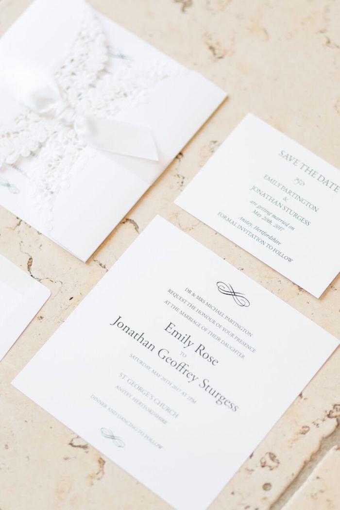 Invites from a Romantic Garden Wedding on Kara's Party Ideas | KarasPartyIdeas.com
