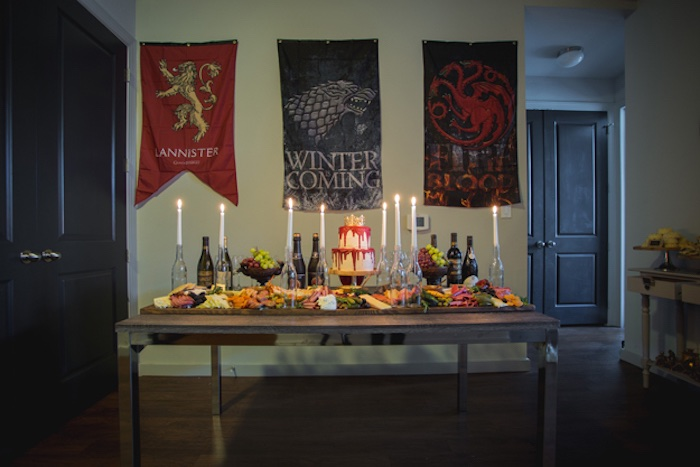 Game of Thrones Party Tables from an Epic Game of Thrones Party on Kara's Party Ideas | KarasPartyIdeas.com (11)