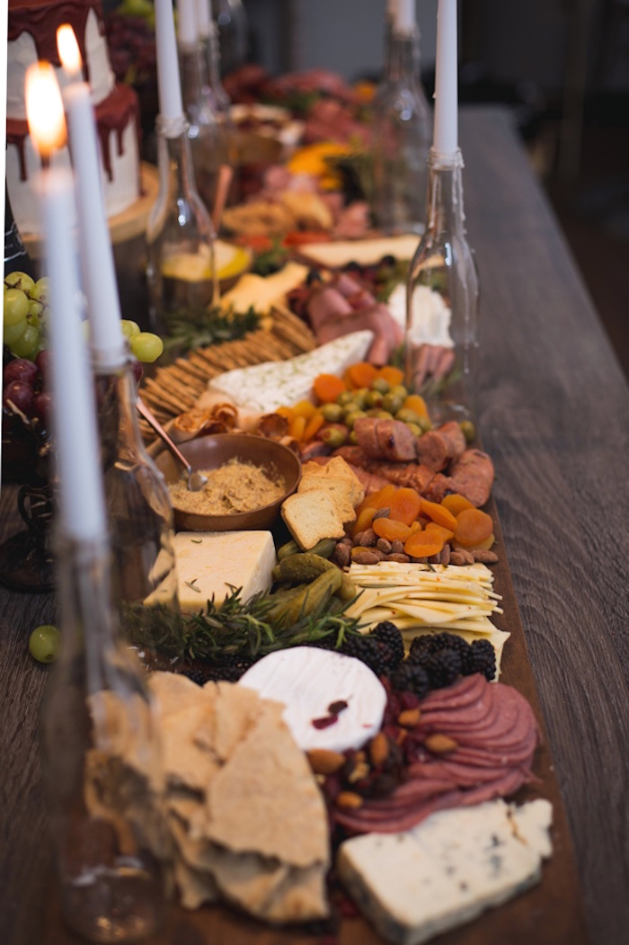 Charcuterie Platter Lined Table from an Epic Game of Thrones Party on Kara's Party Ideas | KarasPartyIdeas.com (20)