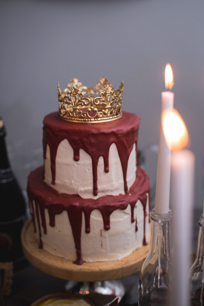 Crowned Drip Cake from an Epic Game of Thrones Party on Kara's Party Ideas | KarasPartyIdeas.com (17)