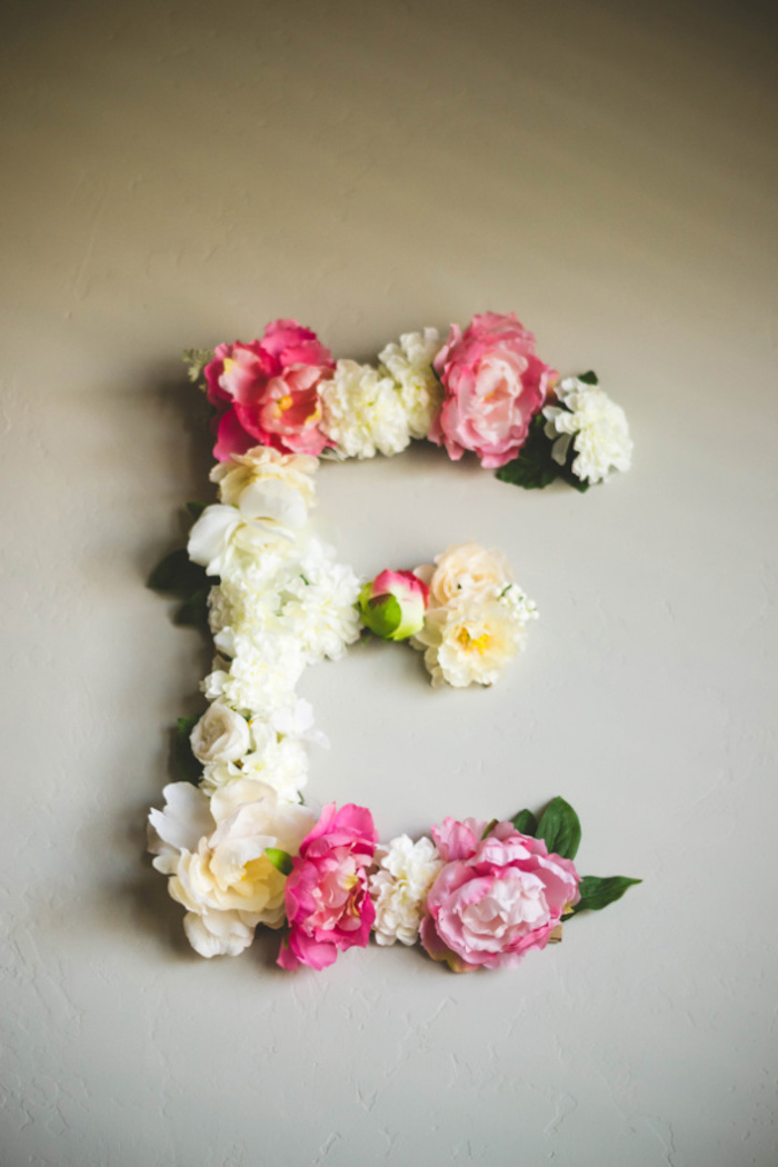 Flower Letter from a Floral First Birthday Party on Kara's Party Ideas | KarasPartyIdeas.com (11)