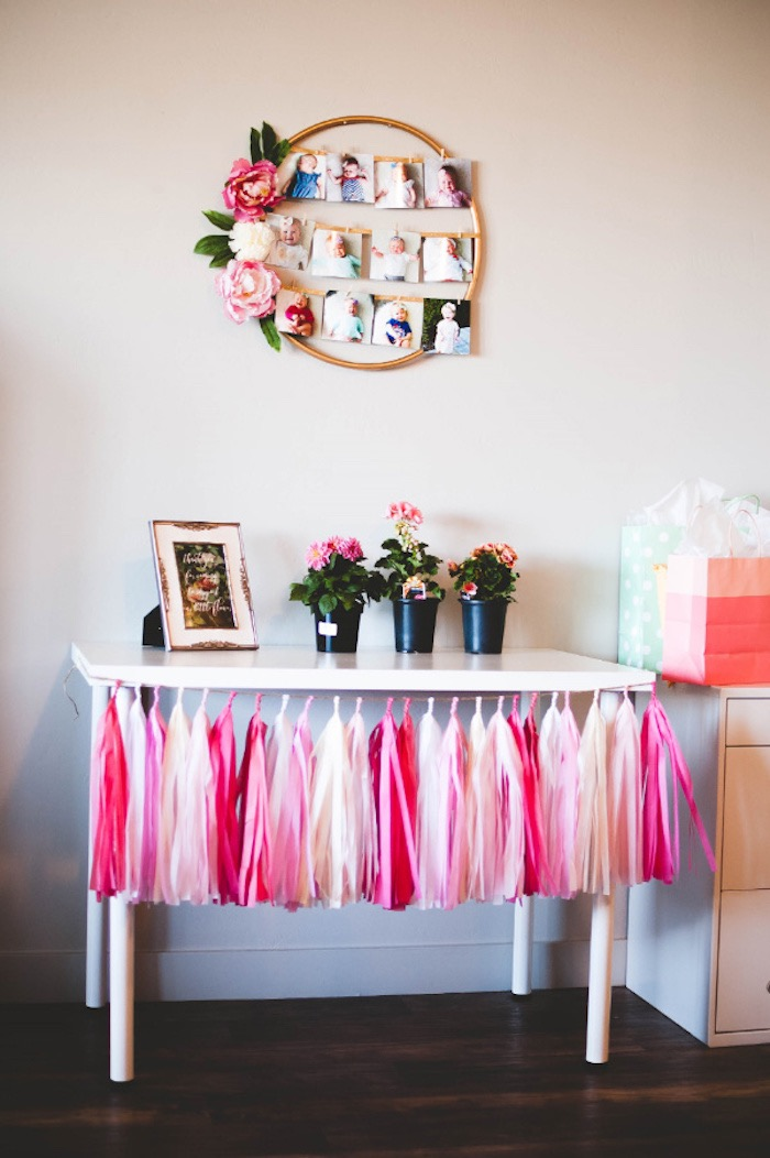 Favor + Highlight Table from a Floral First Birthday Party on Kara's Party Ideas | KarasPartyIdeas.com (7)