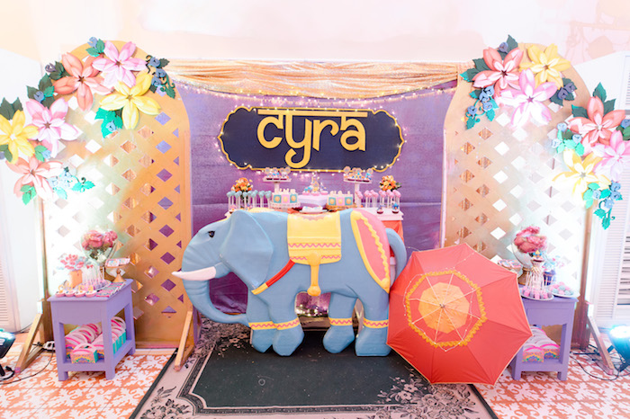 Elephant Dessert Table from a Glamorous Bollywood Birthday Party on Kara's Party Ideas | KarasPartyIdeas.com (16)