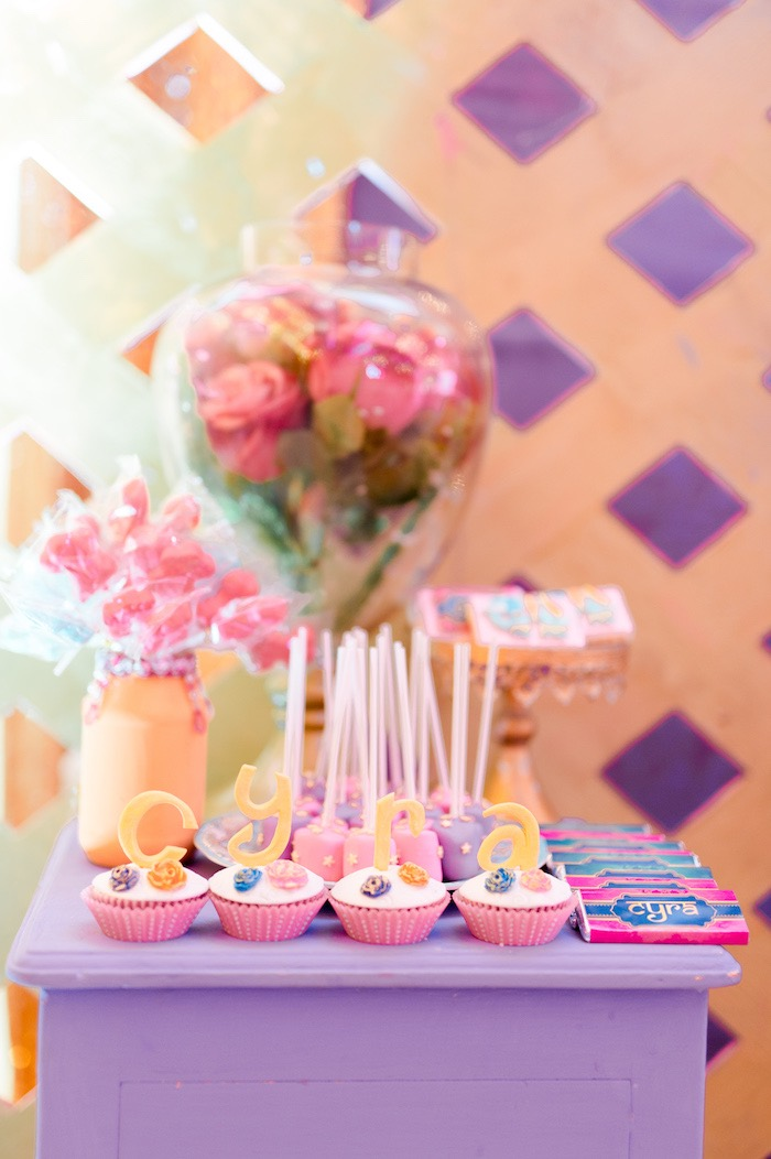 Cupcakes from a Glamorous Bollywood Birthday Party on Kara's Party Ideas | KarasPartyIdeas.com (15)