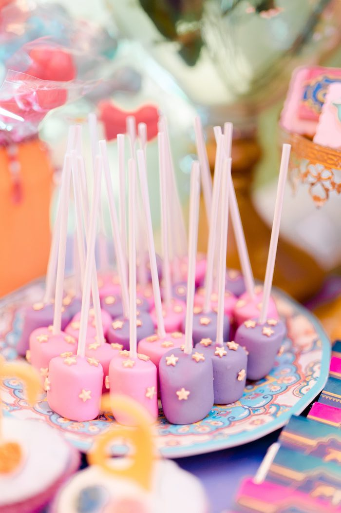 Bollywood Star Marshmallow Pops from a Glamorous Bollywood Birthday Party on Kara's Party Ideas | KarasPartyIdeas.com (14)