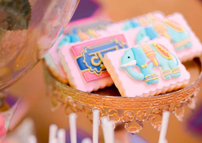 Elephant Cookie from a Glamorous Bollywood Birthday Party on Kara's Party Ideas | KarasPartyIdeas.com (13)