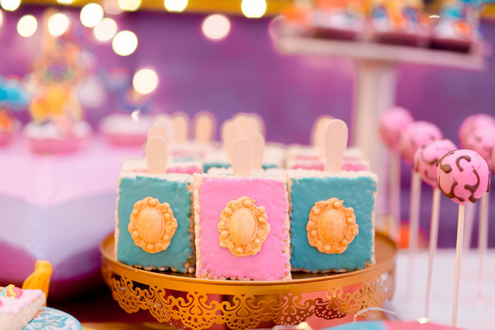 Bollywood Rice Krispie Treats from a Glamorous Bollywood Birthday Party on Kara's Party Ideas | KarasPartyIdeas.com (10)