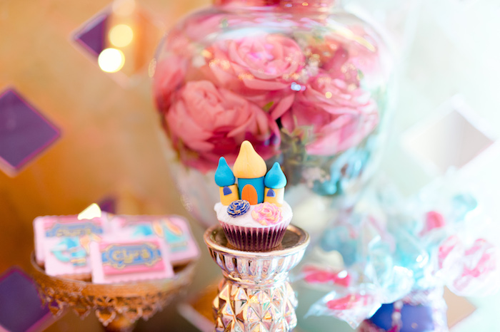 Bollywood Castle Cupcake from a Glamorous Bollywood Birthday Party on Kara's Party Ideas | KarasPartyIdeas.com (8)