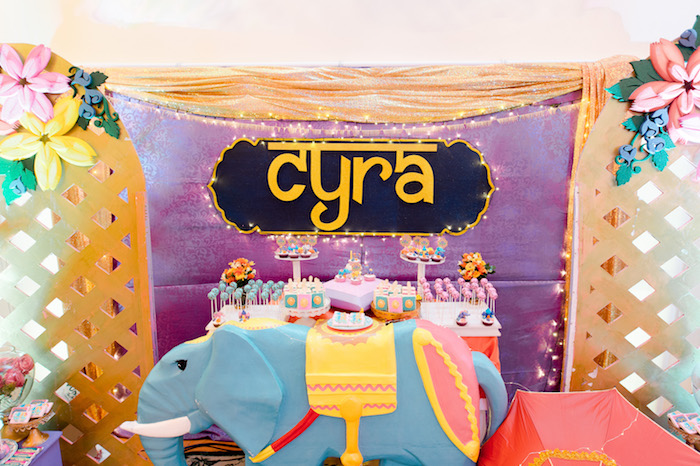 Elephant Dessert Table from a Glamorous Bollywood Birthday Party on Kara's Party Ideas | KarasPartyIdeas.com (6)