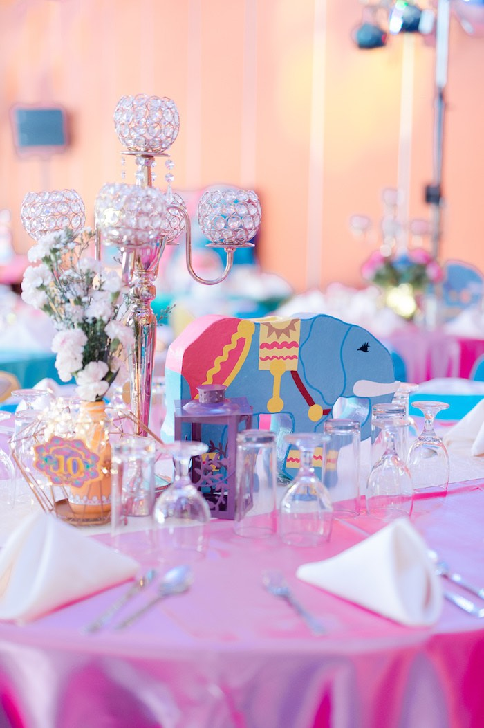 Bollywood Themed Guest Table from a Glamorous Bollywood Birthday Party on Kara's Party Ideas | KarasPartyIdeas.com (21)
