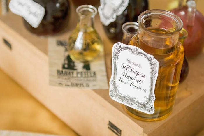 Potion Bottle from a Hermoine + Harry Potter Birthday Party on Kara's Party Ideas | KarasPartyIdeas.com (4)