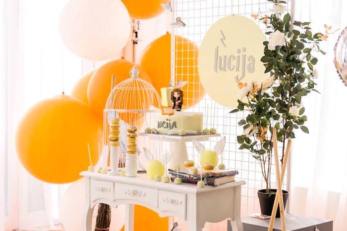 Hermoine Dessert Table from a Hermoine + Harry Potter Birthday Party on Kara's Party Ideas | KarasPartyIdeas.com (11)