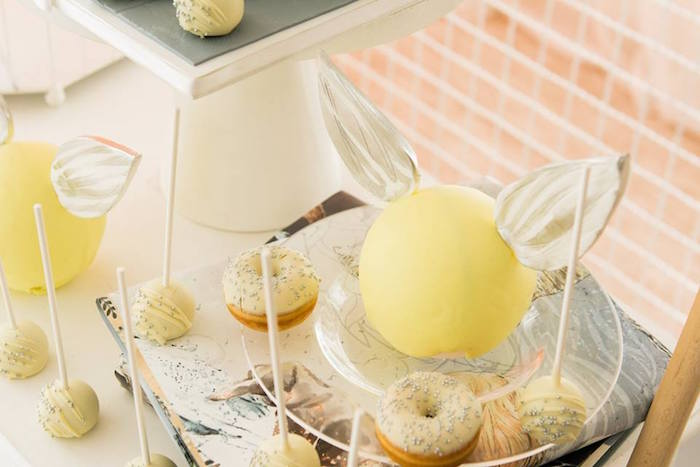 Mini Golden Snitch Cake from a Hermoine + Harry Potter Birthday Party on Kara's Party Ideas | KarasPartyIdeas.com (9)