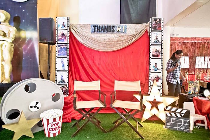 Movie Reel + Director's Photo Booth from a Hollywood Movie Birthday Party on Kara's Party Ideas | KarasPartyIdeas.com (11)
