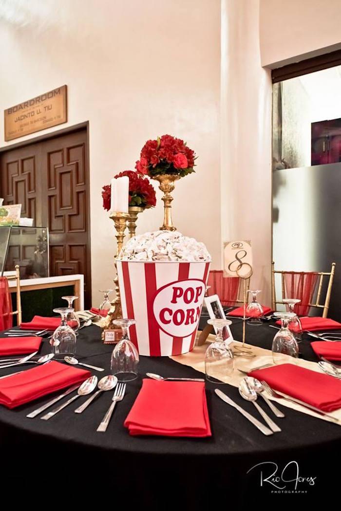 Movie Star Guest Table from a Hollywood Movie Birthday Party on Kara's Party Ideas | KarasPartyIdeas.com (10)
