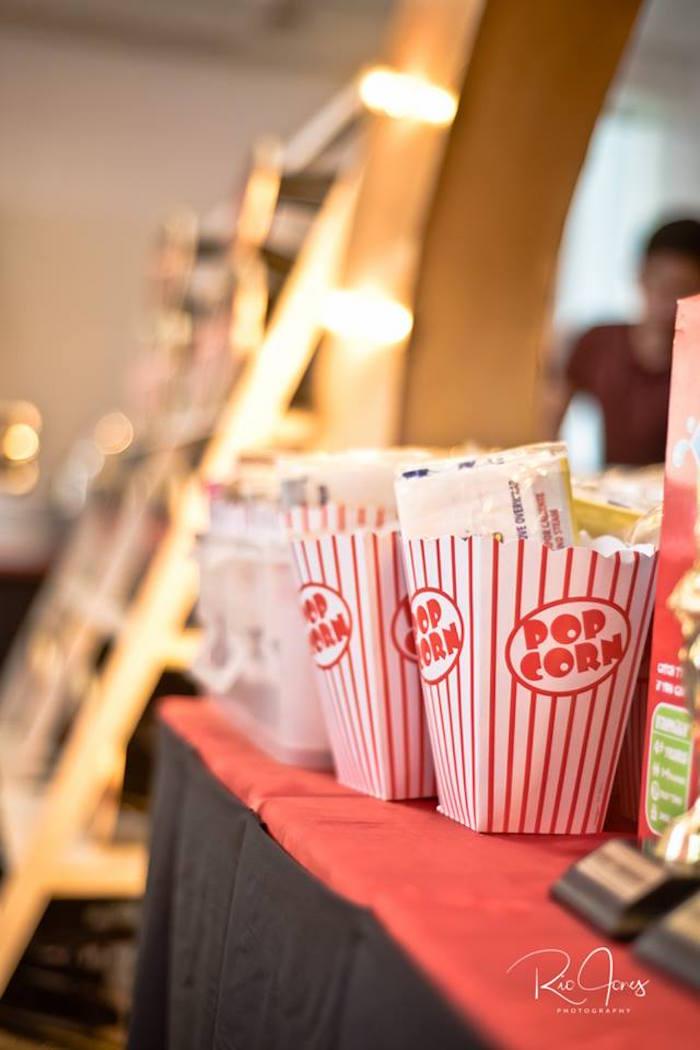Popcorn Boxes from a Hollywood Movie Birthday Party on Kara's Party Ideas | KarasPartyIdeas.com (4)