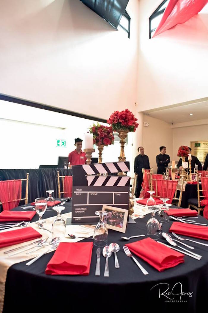 Hollywood Movie Star Guest Table from a Hollywood Movie Birthday Party on Kara's Party Ideas | KarasPartyIdeas.com (14)