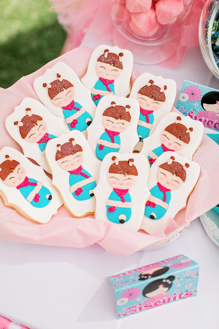 Cookies from a Japanese Garden Picnic Party on Kara's Party Ideas   KarasPartyIdeas.com (13)