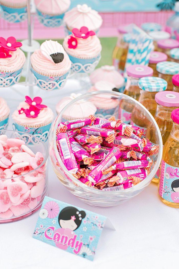 Candy Jar from a Japanese Garden Picnic Party on Kara's Party Ideas   KarasPartyIdeas.com (29)