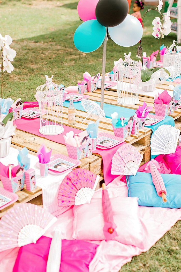 Kara S Party Ideas Japanese Garden Picnic Party Kara S