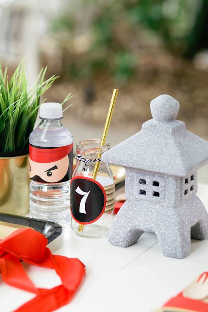 Table Decor from a Japanese Ninja Warrior Birthday Party on Kara's Party Ideas | KarasPartyIdeas.com (24)