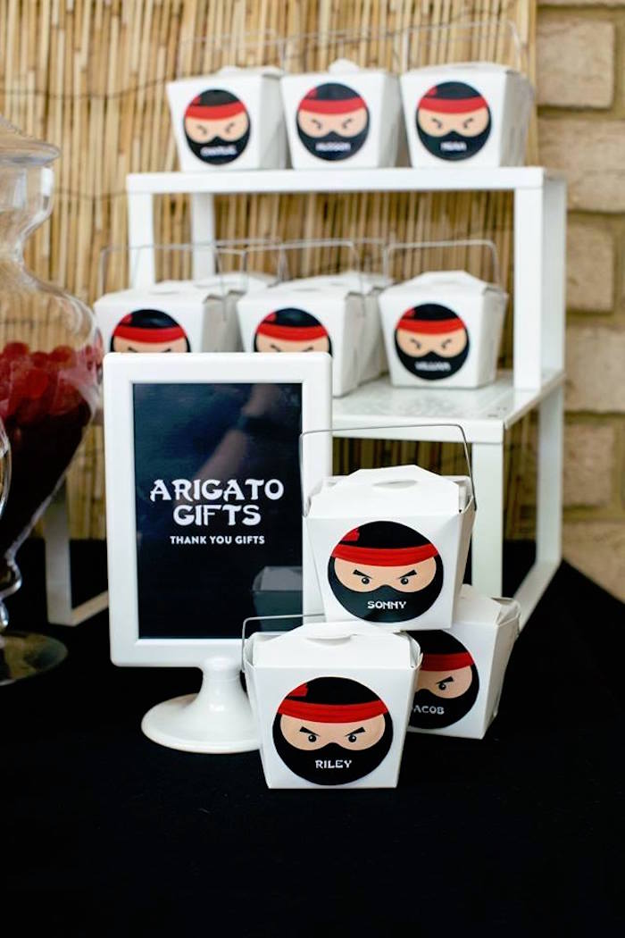 Arigato Gifts from a Japanese Ninja Warrior Birthday Party on Kara's Party Ideas | KarasPartyIdeas.com (15)