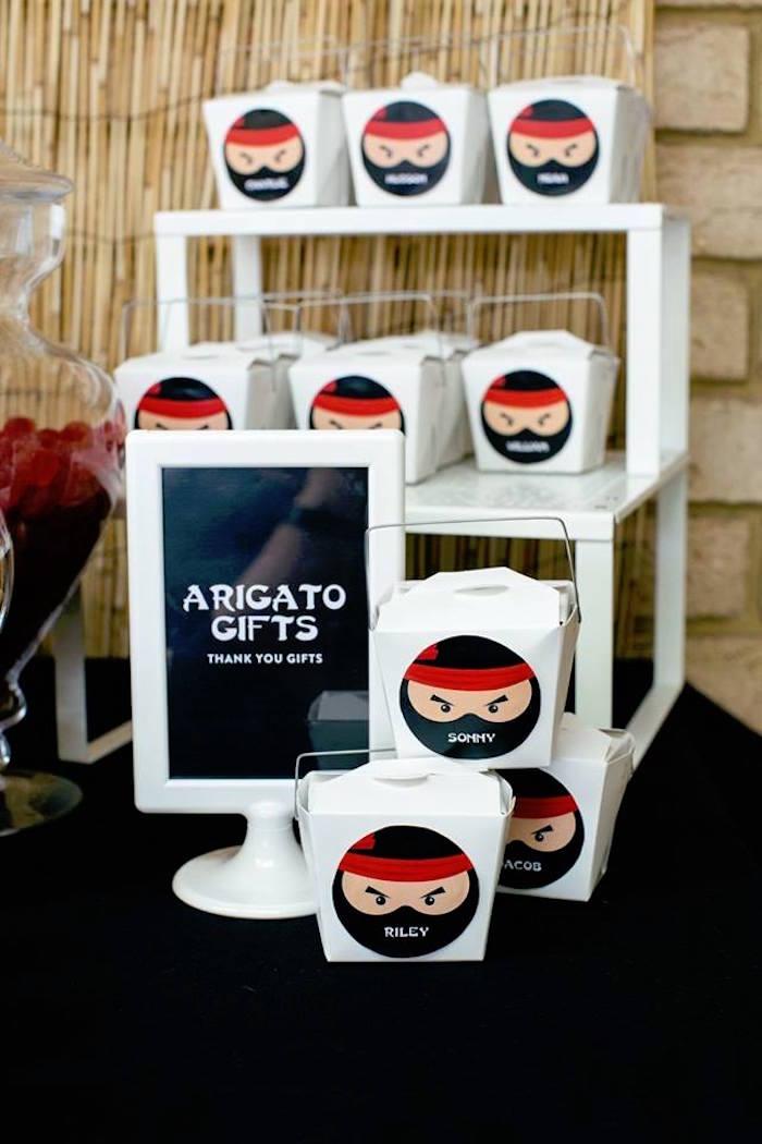 Arigato Gifts from a Japanese Ninja Warrior Birthday Party on Kara's Party Ideas   KarasPartyIdeas.com (15)