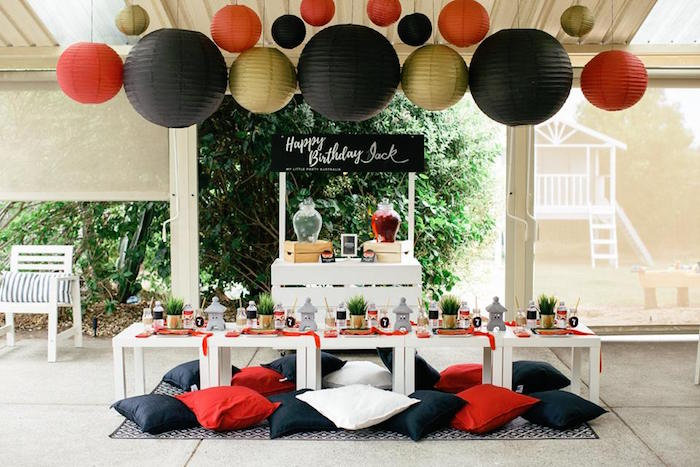 Japanese Ninja Warrior Birthday Party on Kara's Party Ideas | KarasPartyIdeas.com (8)