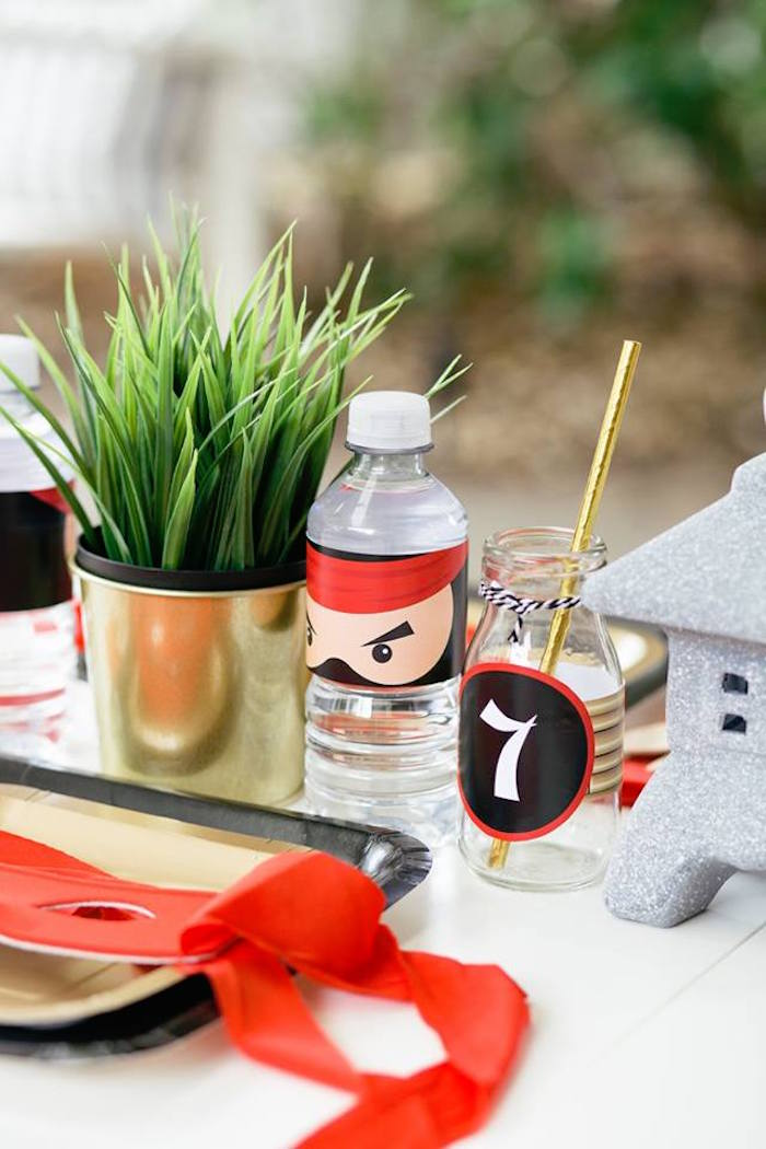 Drinks from a Japanese Ninja Warrior Birthday Party on Kara's Party Ideas   KarasPartyIdeas.com (28)